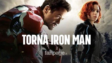 """Iron Man torna al cinema: Robert Downey Jr. nella """"Vedova Nera"""" con Scarlett Johansson"""