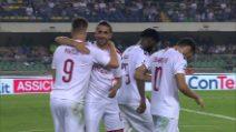 Serie A, Verona-Milan: il gol di Piatek su rigore