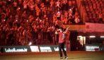 Falcao entra in campo, lo stadio diventa incandescente