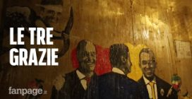 """Roma, Tvboy raffigura il governo Pd-M5s con """"Le Tre Grazie"""" Conte, Di Maio e Zingaretti"""