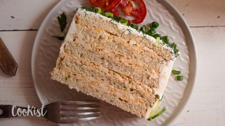 Sandwich cake: a no bake and super easy recipe for a quick and light dinner!