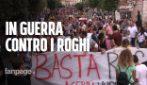 """Acerra in piazza contro i roghi: """"E' una guerra, dal governo solo passerelle e nessuna soluzione"""""""