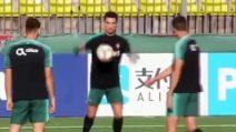 Cristiano Ronaldo dà spettacolo: numeri pazzeschi in allenamento