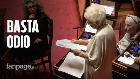 """Liliana Segre: """"Basta con utilizzo dei simboli religiosi per colpire gli avversari, ricorda il nazismo"""""""