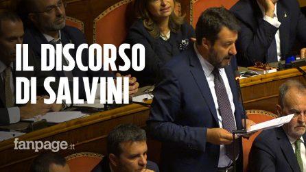 """Matteo Salvini: """"Conte, l'uomo che sussurrava alla Merkel, non fa bene ad un paese libero"""""""