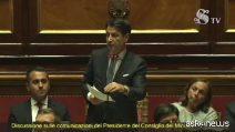"""Fiducia al Senato, Conte replica a Salvini: """"Arrogante chi pensava a 'pieni poteri'"""""""