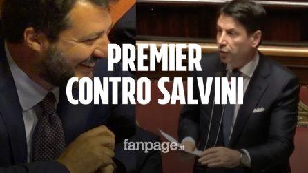 """Conte bis al Senato, il premier ancora contro Salvini. E il leghista grida: """"Poltronari!"""""""