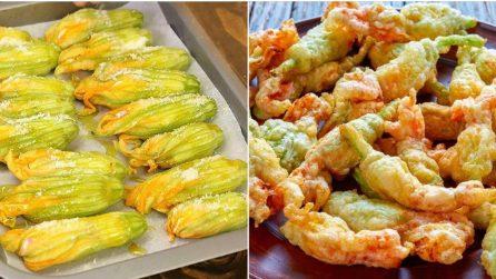 Fiori di zucca al forno con ricotta e salame: pieni di sapore, senza pastella né uova!