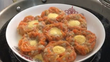 Carrot baskets with eggs: a fun preparation with a tasty flavor