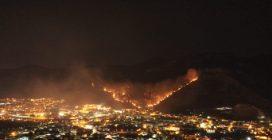 Sarno, il video dell'incendio ripreso dal drone
