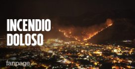 """Incendio a Sarno, testimoni: """"E' stato doloso. Ci avevano provato la settimana scorsa"""""""