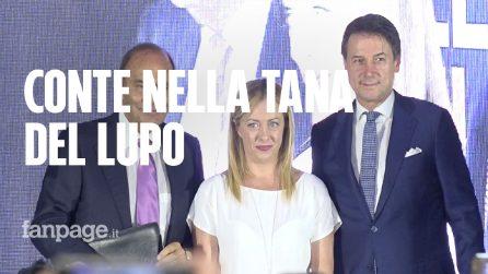 """Il Presidente Conte alla festa di Fratelli d'Italia ad Atreju: """"Sui migranti non ho cambiato idea"""""""