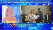 Domenica Live: il battesimo di Michelino, figlio di Paola Caruso