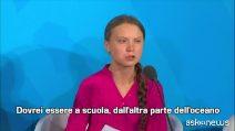 """Greta Thunberg all'Onu: """"Mi avete rubato l'infanzia"""""""