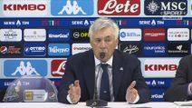 """Napoli, Ancelotti: """"Dispiaciuti per il risultato"""""""
