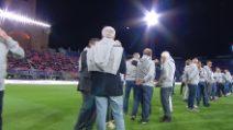 Bologna-Real Legends: l'ovazione per Roberto Baggio