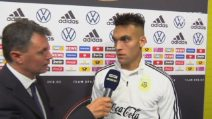 """Lautaro Martinez: """"Lavoreremo per raggiungere la Juve"""""""