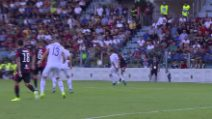 Serie A: Cagliari-Verona, il gol dell'1-0 assegnato a Castro