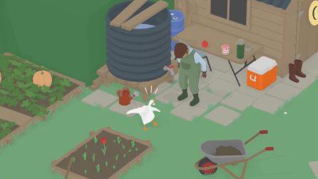 Untitled Goose Game, il trailer del gioco su un'oca ispirato al cinema degli anni '20