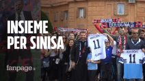 Forza Sinisa: tifosi in pellegrinaggio insieme prima di Bologna-Lazio
