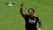 Premier: Manchester City-Wolverhampton 0-2: gol e highlights