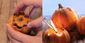 Candele di zucca: l'idea autunnale per decorare la vostra casa