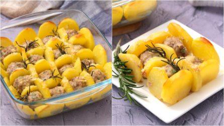 Almôndegas assadas com batatas: o truque para prepará-las em poucos minutos!