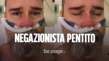 """Il negazionista pentito dall'ospedale: """"Non indossavo la mascherina, non fate come me"""""""