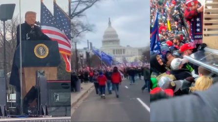 Dal comizio ai disordini al Congresso: le immagini inedite girate tra la folla dei sostenitori di Trump