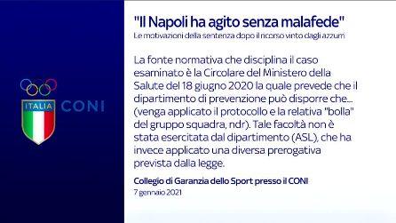 Juve-Napoli, motivazioni sentenza del Collegio di Garanzia