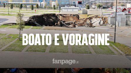 """Napoli, voragine davanti a ospedale del Mare, De Luca: """"Grazie a Dio non ci sono vittime"""""""