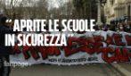 """""""Riaprire le scuole in sicurezza"""": la protesta degli studenti al ministero dell'Istruzione"""