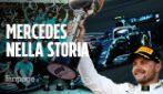Mercedes nella storia della F1: 6° titolo costruttori consecutivo come la Ferrari di Schumacher