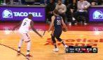 Nicolò Melli, 14 punti all'esordio in NBA contro i Raptors