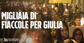 """In migliaia alla fiaccolata per Giulia, strangolata dal marito. Il padre: """"Deve marcire in carcere"""""""