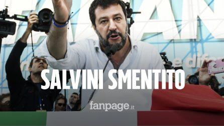 """La Questura smentisce Matteo Salvini: """"200 mila persone in piazza? No, 70 mila"""""""