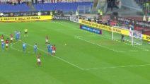 Roma-Napoli 2-1, il gol su rigore di Veretout