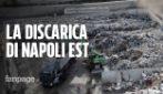 """Nella discarica a Napoli Est, l'ira dei cittadini: """"Si muore dalla puzza, ora basta"""""""