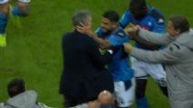Champions: Insigne segna il gol decisivo, poi abbraccia Ancelotti
