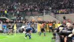 Champions: Inter-Borussia, il gol di Candreva e l'esultanza di San Siro