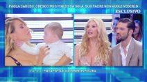 Domenica Live, Paola Caruso presenta il piccolo Michelino