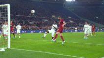 Roma, Dzeko segna contro il Milan e perde la maschera