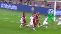 Serie A: Roma-Milan, il gol del vantaggio di Dzeko