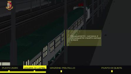Treno deragliato a Pioltello: la ricostruzione in 3D dell'incidente costato la vita a tre persone