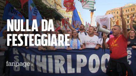 """Sciopero Whirlpool, gli operai non si fidano dell'azienda: """"Non c'è nulla per cui esultare, vogliono chiudere Napoli"""""""