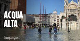 Acqua alta a Venezia, nuovo picco per la super marea: ancora superato il metro e 30