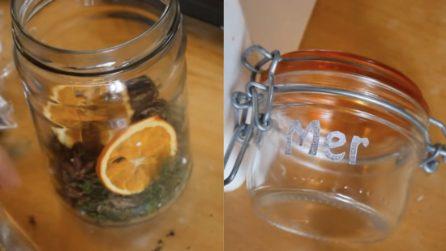 How to reuse glass jars: the beautiful Christmas idea