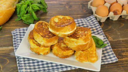 Pane cremoso fritto con le uova: il modo geniale per riciclare il pane raffermo!