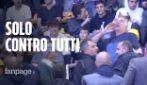"""Bologna, parla il contestatore solitario di Salvini: """"Basta con Bibbiano, non c'entra col PD"""""""