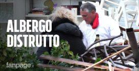 """Maltempo Toscana, distrutto albergo a Marina di Carrara, i proprietari: """"Dovremo ricostruire tutto"""""""